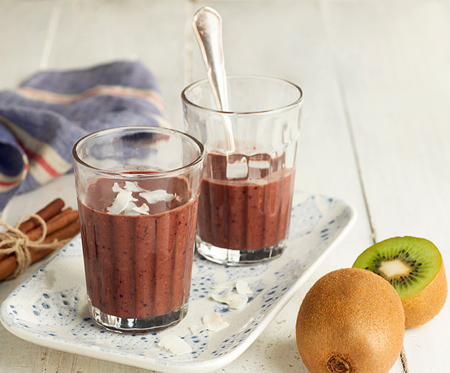 Smoothie au kiwi Zespri Green et au chocolat